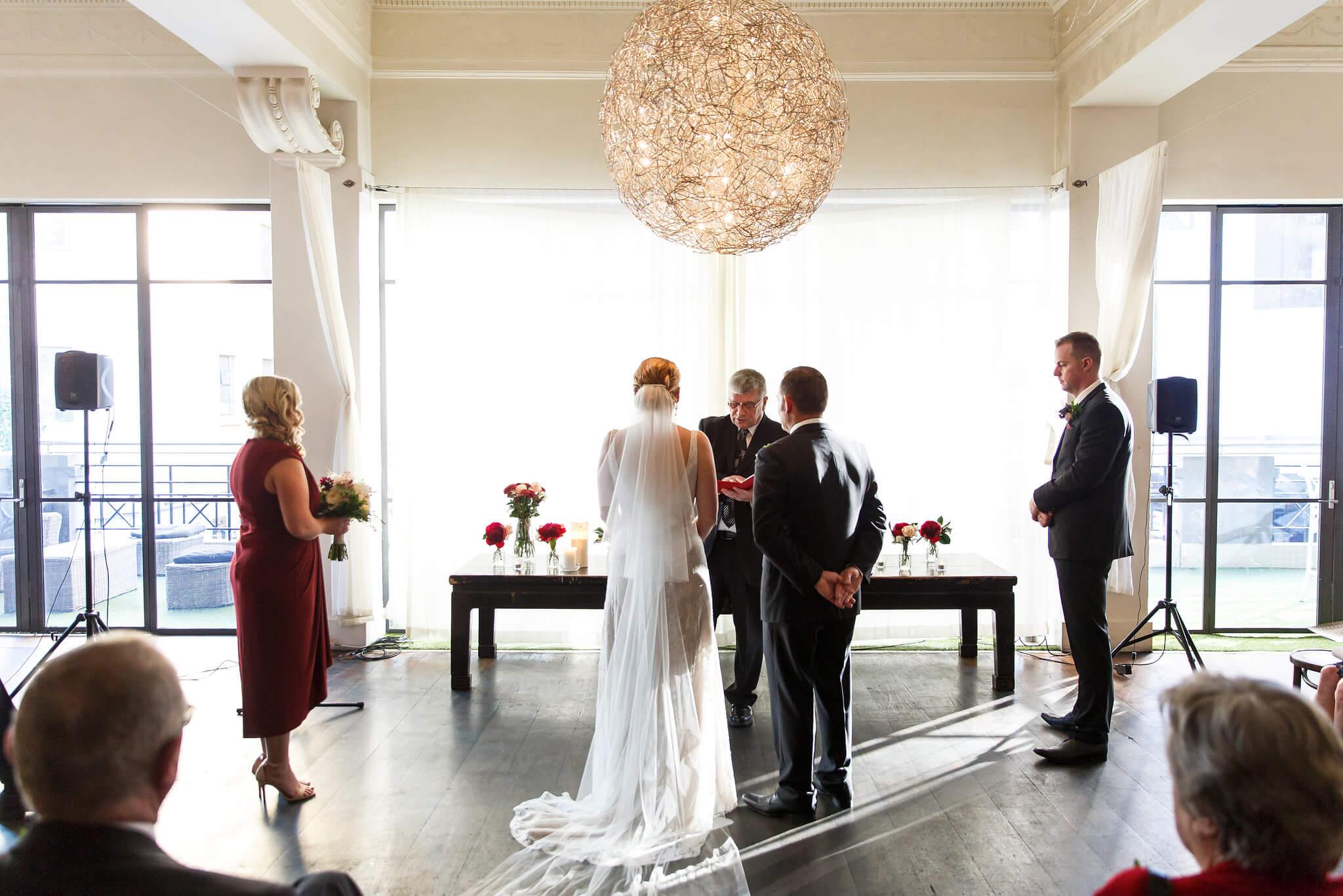 wedding ceremony at hotel richmond