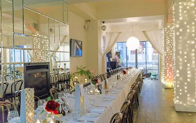Long table weddings or events at hotel richmond up to 120 guests