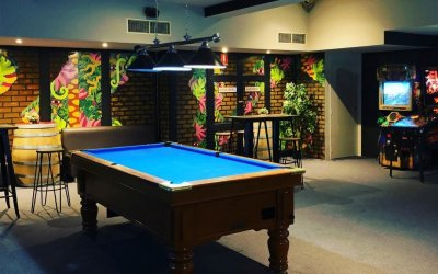 Basement Bar party venue Adelaide space with pool table
