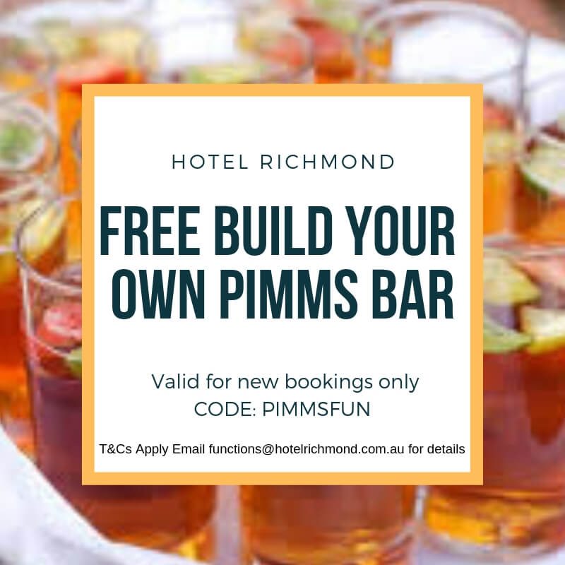 Free build your own Pimms bar at Hotel Richmond