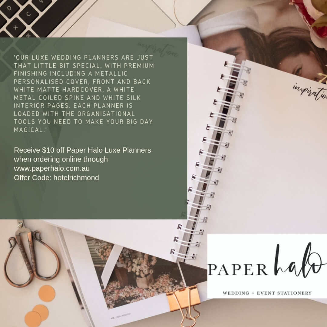 Paper halo wedding planner deal for the wedding festival