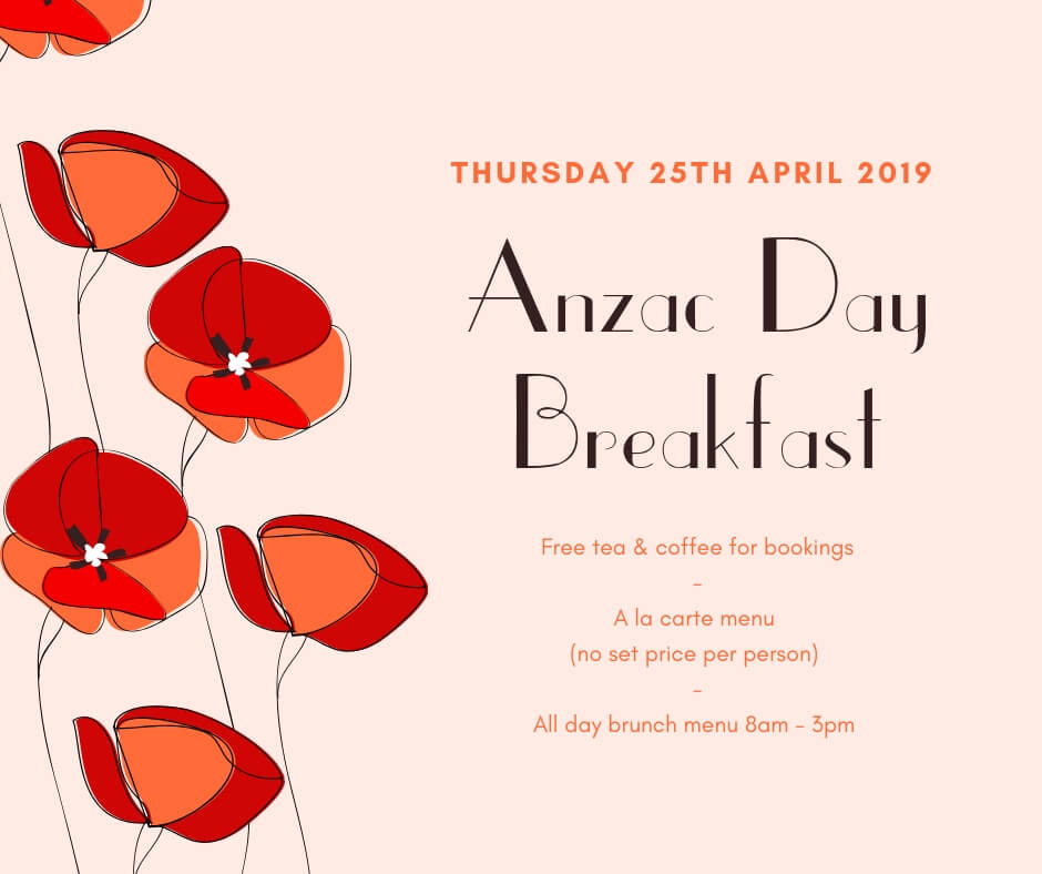 Anzac Day Poster Hotel Richmond for 2019