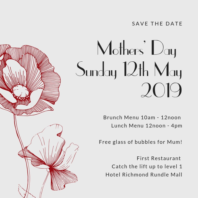 Mothers Day at Hotel Richmond Rundle Mall Adelaide